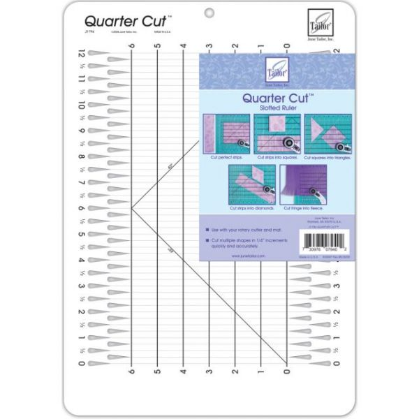 Quarter Cut Slotted Ruler