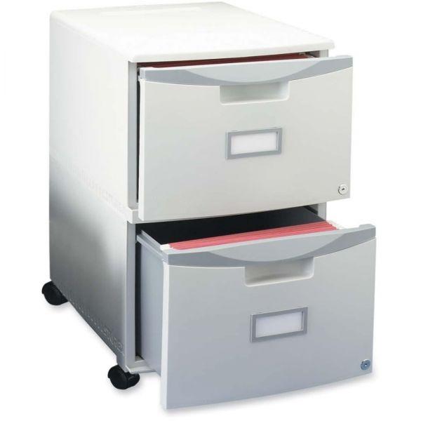 Storex Two-Drawer Mobile Filing Cabinet