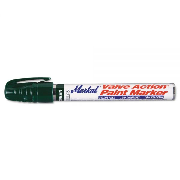 Markal Valve Action Paint Marker, Green
