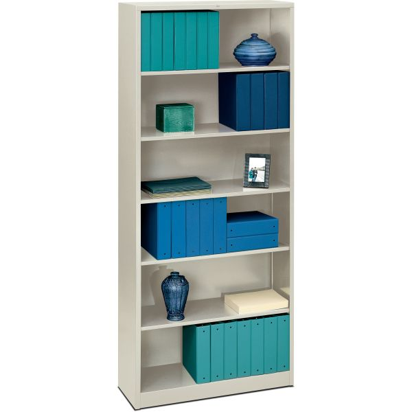 HON Brigade 6-Shelf Metal Bookcase