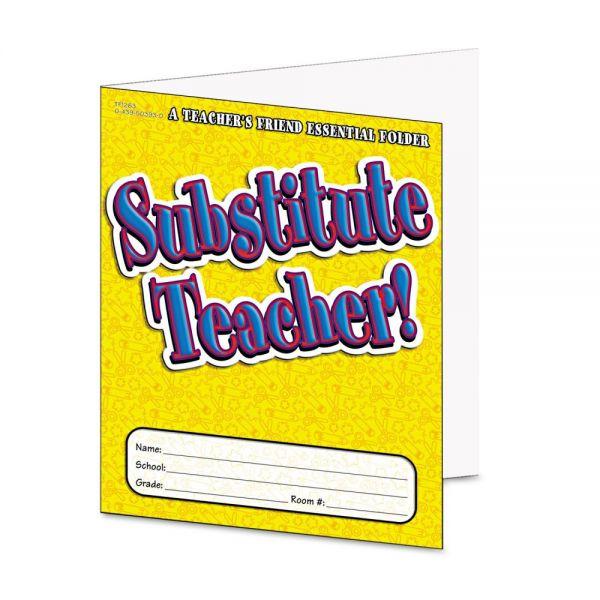Scholastic Substitute Teacher Essential Laminated Folder