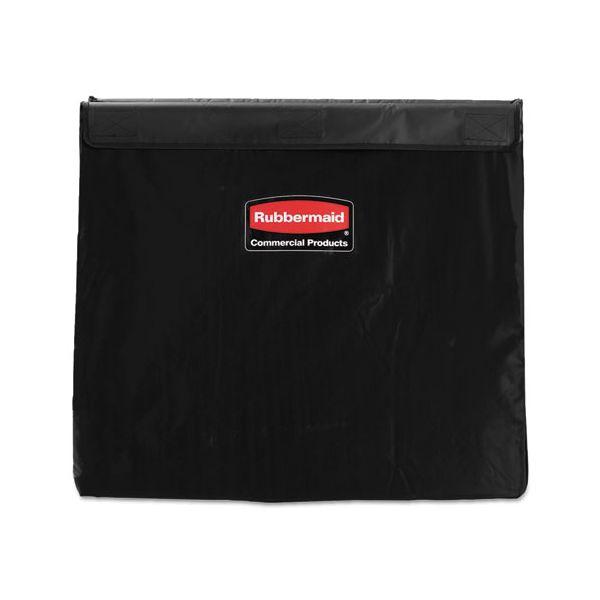 Rubbermaid Commercial Collapsible X-Cart Replacement Bag, 8 Bushel, 220 Lbs, Vinyl, Black
