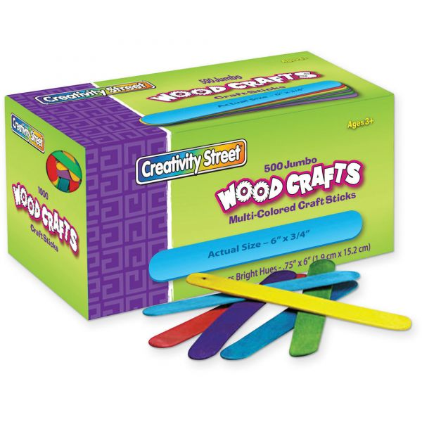 Chenille Kraft Colored Wood Jumbo Craft Sticks