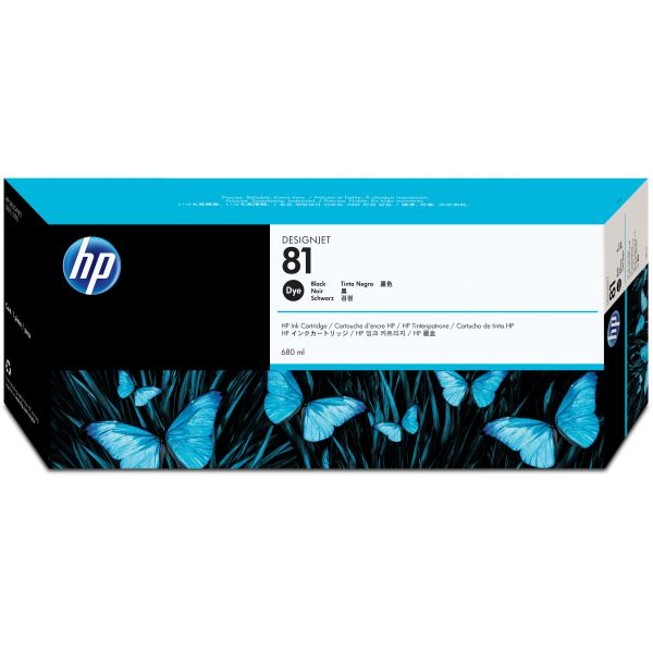 HP 81 Black Dye Ink Cartridge (C4930A)