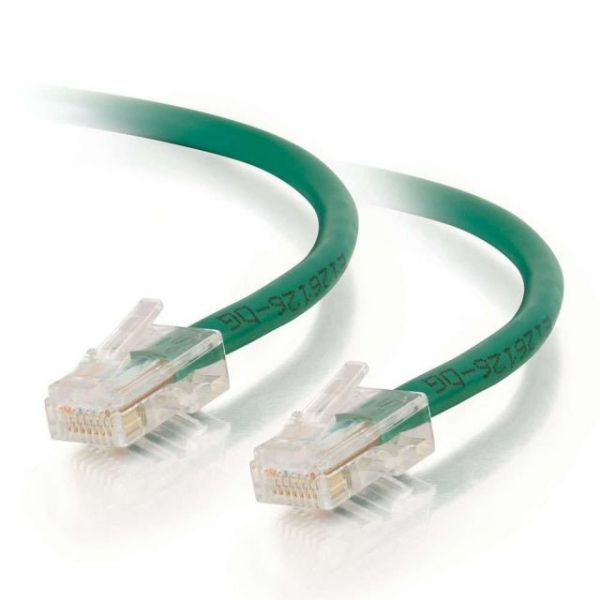 14ft Cat5e Non-Booted Unshielded (UTP) Network Patch Cable - Green