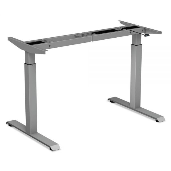 "Alera 2-Stage Electric Adjustable Table Base, 27 1/4"" to 47 1/4"" High, Gray"