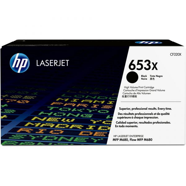 HP 653X Black Toner Cartridge (CF320X)