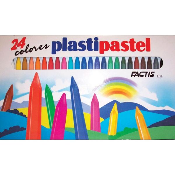 Factis Plastipastel Crayons 24/Pkg