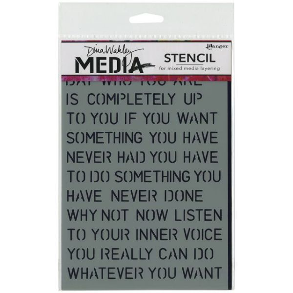 "Dina Wakley Media Stencils 6""X9"""