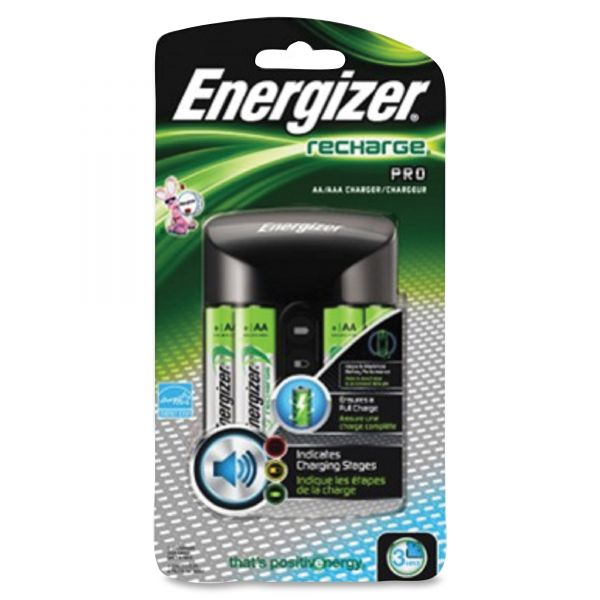Energizer Pro Charger with 4 AA Rechargeable Batteries