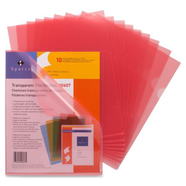 Sparco Transparent File Holders