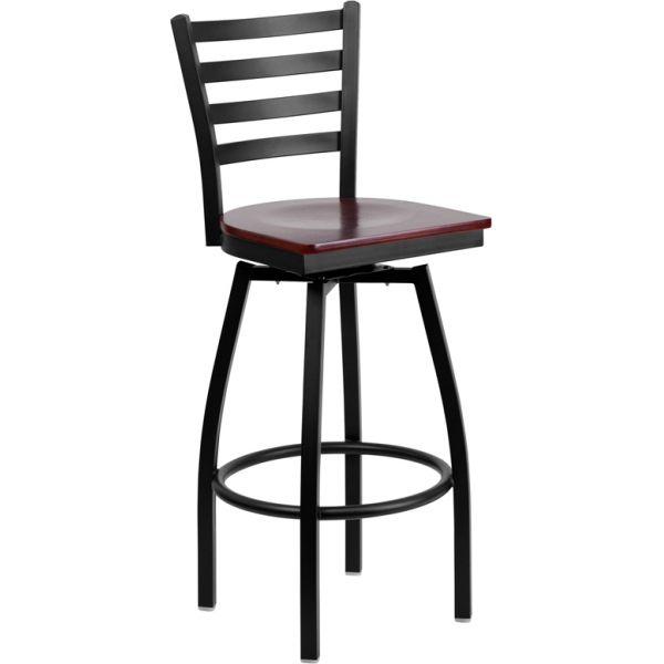 Flash Furniture HERCULES Series Ladder Back Swivel Barstool