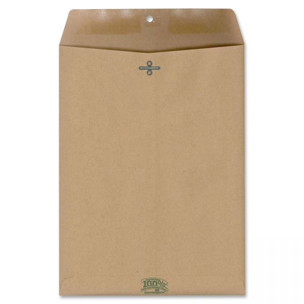 "Envirotech 100% Recycled 9"" x 12"" Clasp Envelopes"