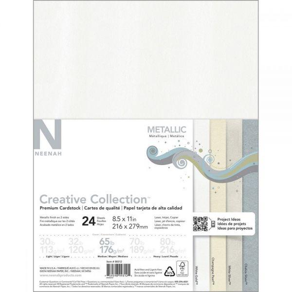 """Neenah Metallic Cardstock 8.5""""X11"""" 24/Pkg"""