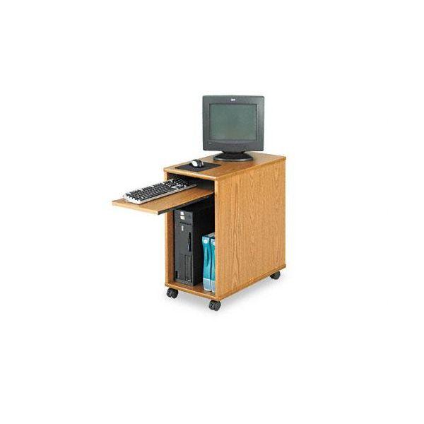 Safco Deskside Mini Workstation, 15-3/4w x 27d x 29-3/4h, Medium Oak Top