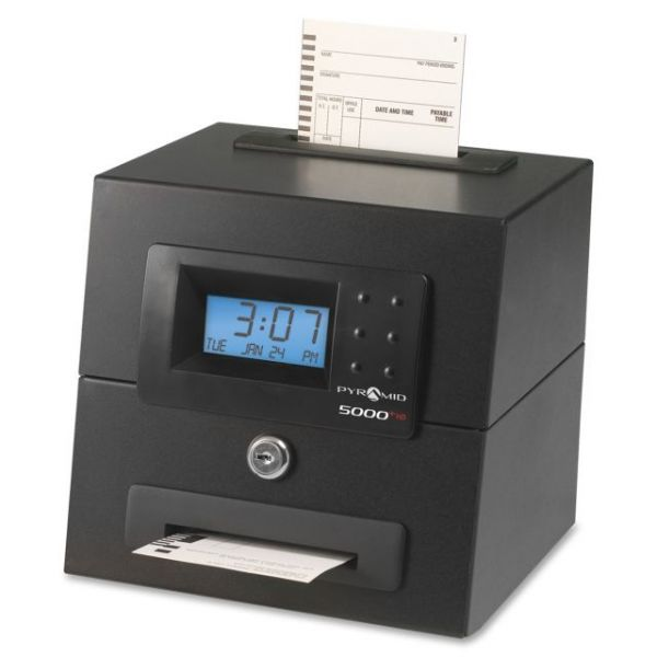 Pyramid 5000HD  Heavy Duty Auto-Totaling Time Clock