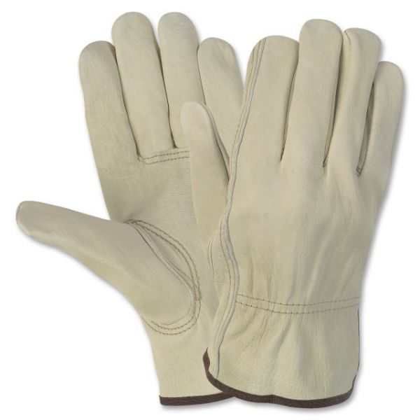 MCR Safety Durable Cowhide Leather Work Gloves
