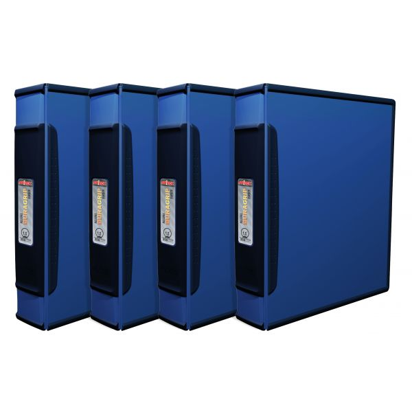"""Storex 1.5"""" DuraGrip Binder - Blue (Case of 4)"""