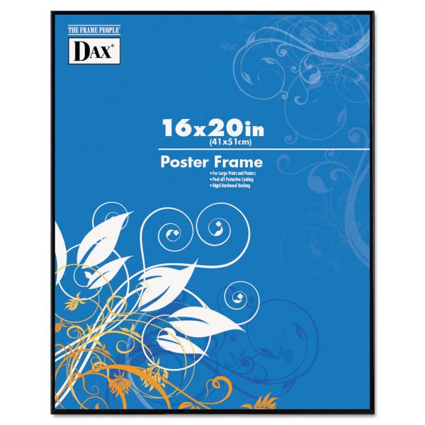 DAX Coloredge Poster Frame, Clear Plastic Window, 16 x 20, Black