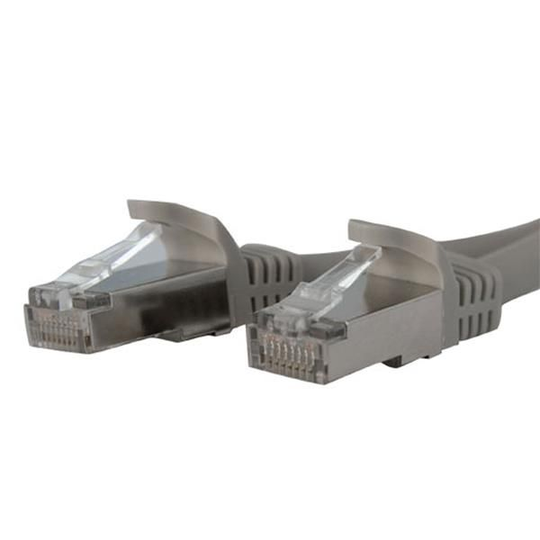 StarTech.com 3 ft Gray Shielded Snagless 10 Gigabit RJ45 STP Cat6a Patch Cable