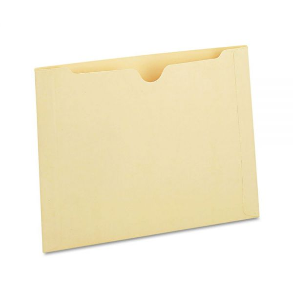 Universal Manila File Jackets with Reinforced Tabs, One Inch Expansion, Legal, 50/Box