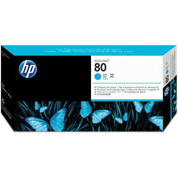 HP 80 Cyan Printhead & Cleaner (C4821A)
