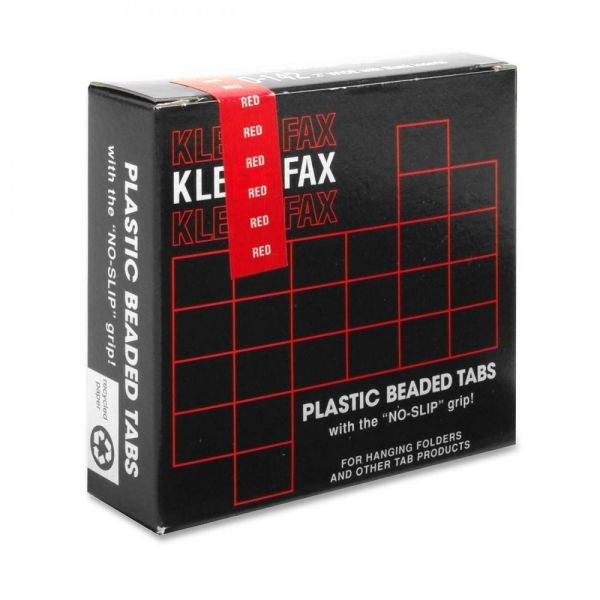 Kleer-Fax Hanging Folder Plastic Beaded Tabs