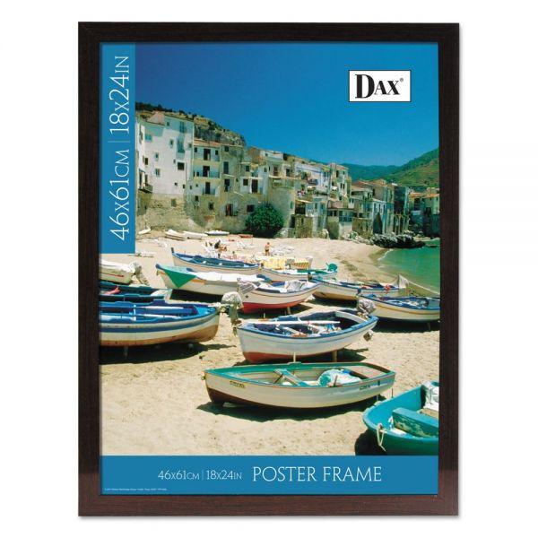 DAX Ashwood Mahogany Poster Frame, 18 x 24, Mahogany Frame
