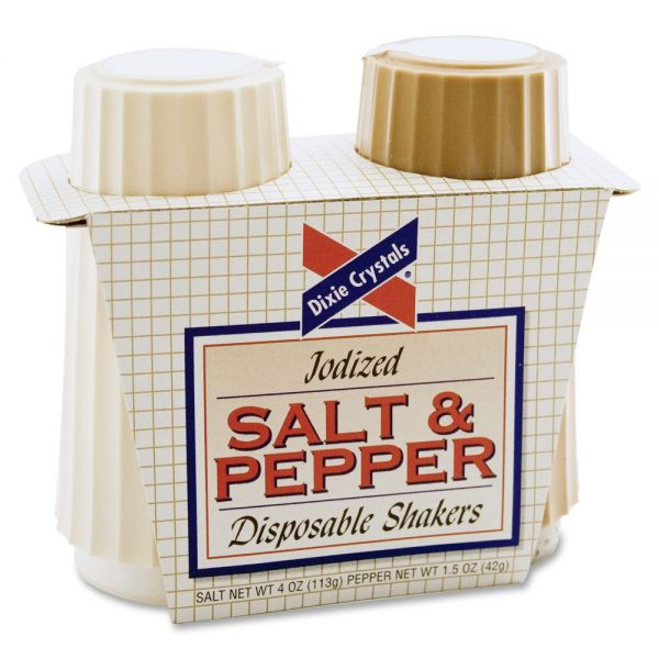 Diamond Crystal Salt & Pepper Disposable Shakers