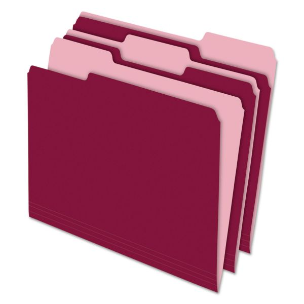 Pendaflex Burgundy Colored File Folders