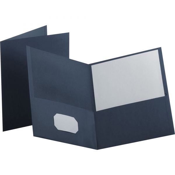Esselte Dark Blue Two Pocket Folders
