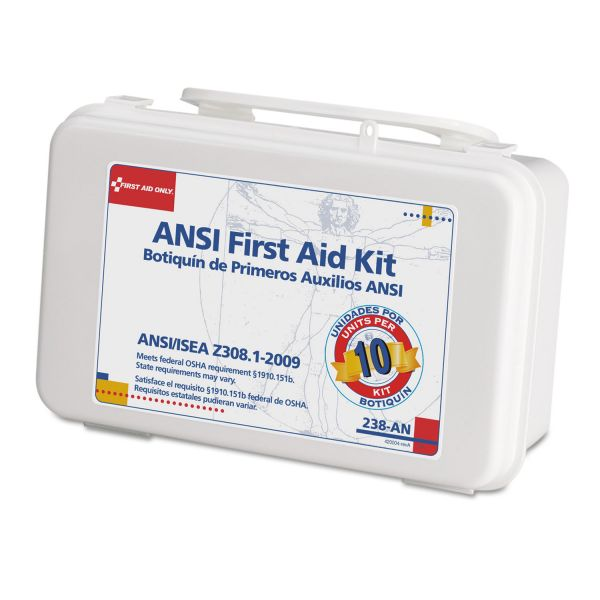 First Aid Only ANSI-Compliant First Aid Kit, 64 Pieces, Plastic Case