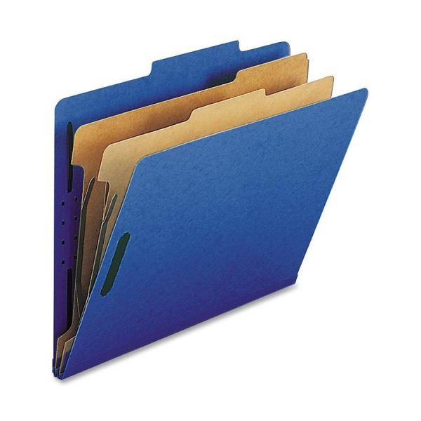 Nature Saver Midnight Blue 2-Divider Classification Folders