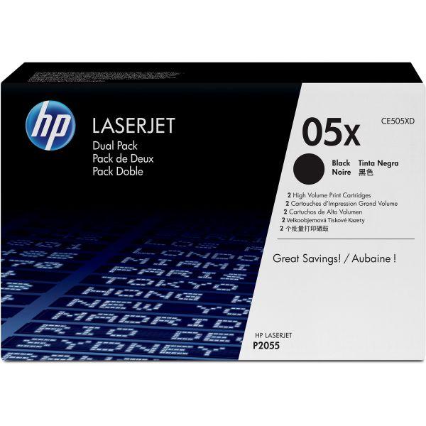 HP 05X Black High Yield Toner Cartridges (CE505XD)