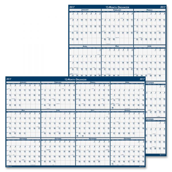 House of Doolittle Laminated Reversible Yearly Wall Calander
