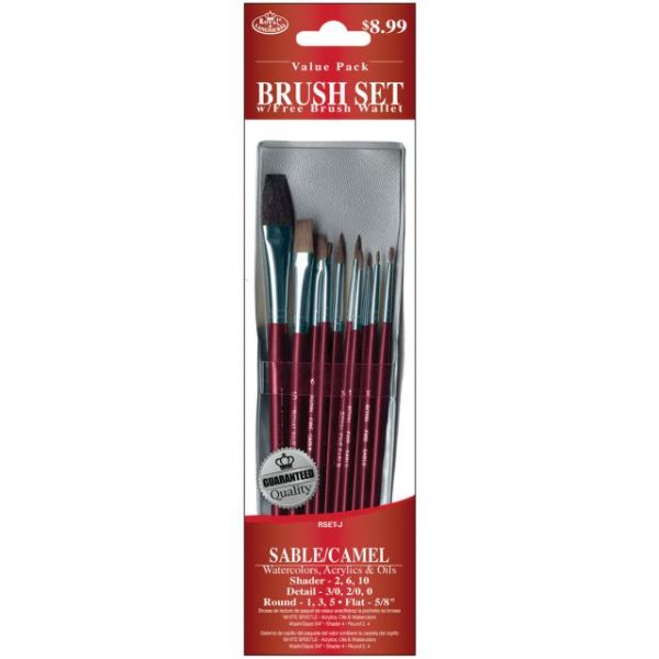 Sable/Camel Value Pack Brush Set