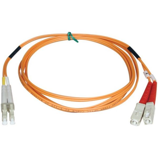 Tripp Lite 1M Duplex Multimode 50/125 Fiber Optic Patch Cable LC/SC 3' 3ft 1 Meter