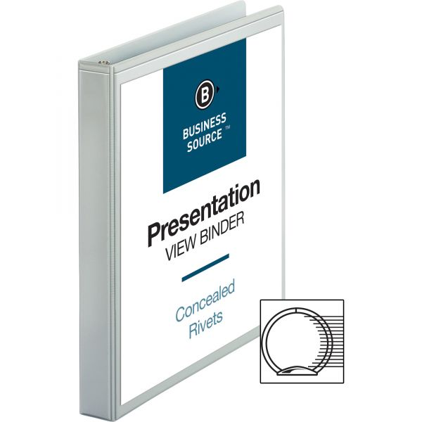 "Business Source Standard 1"" 3-Ring View Binder"