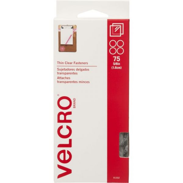 "VELCRO(R) Brand Thin Fasteners Coins 5/8"" 75/Pkg"