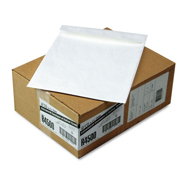 Survivor Tyvek Expansion Mailer, 10 x 13 x 1 1/2, White, 100/Carton
