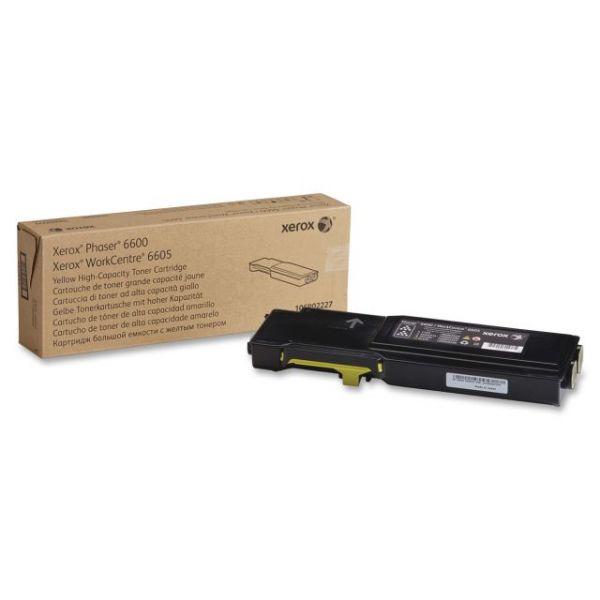 Xerox Phaser 106R02227 Yellow High Capacity Toner Cartridge