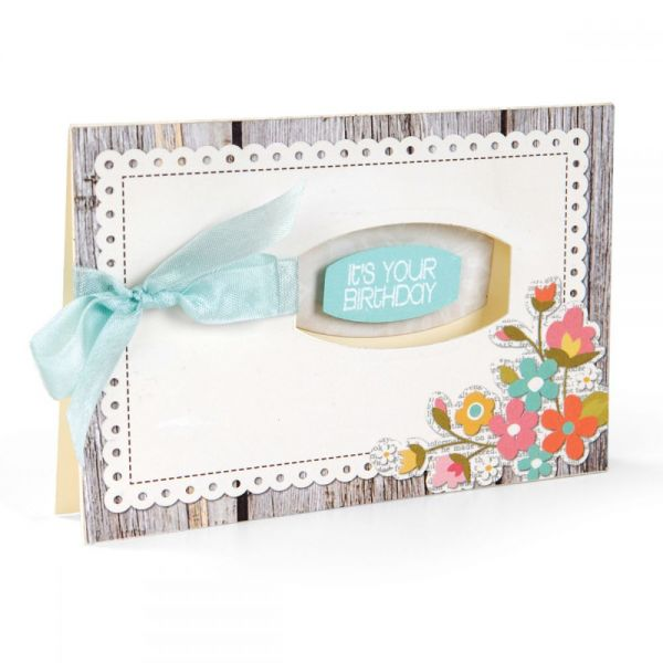 Sizzix Framelits Dies 12/Pkg W/Clear Stamps