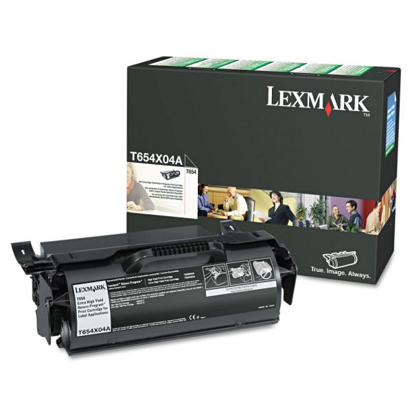 Lexmark T654 Black Extra High Yield Return Program Toner Cartridge (T654X04A)