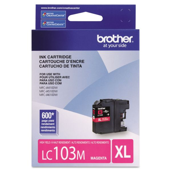 Brother LC103M Magenta High Yield Ink Cartridge