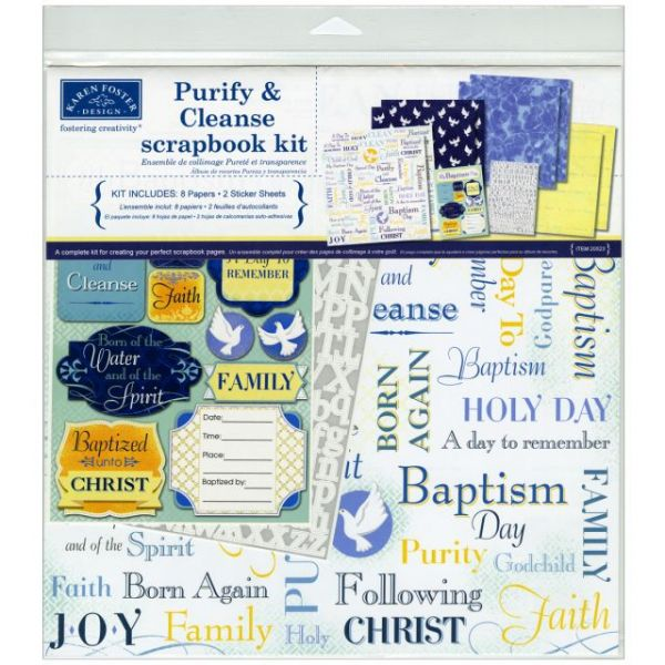 Karen Foster Purify & Cleanse Baptism Scrapbook Page Kit