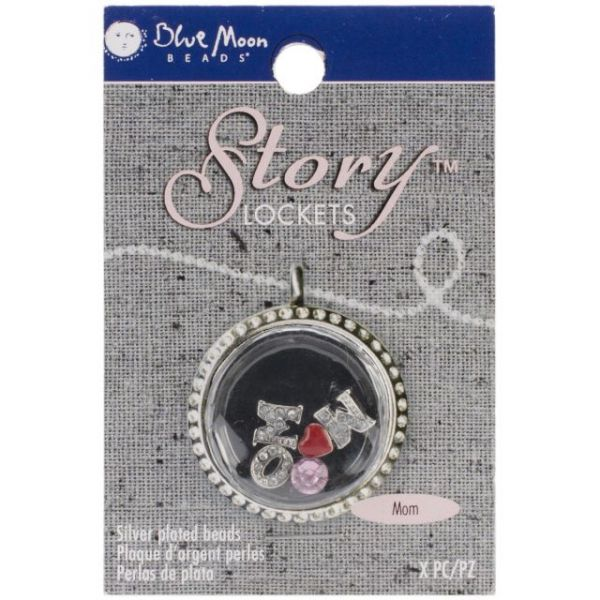 Blue Moon Story Lockets Metal Charm Assortment 5/Pkg