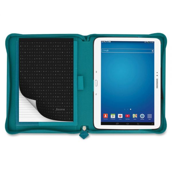 "Filofax Saffiano Carrying Case for 10.1"" Tablet - Aqua"