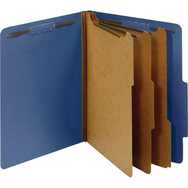 Globe-Weis 3-Divider Pressboard Classification Folders
