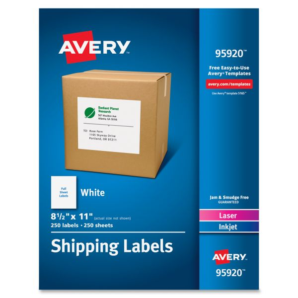 Avery 95920 Shipping Labels