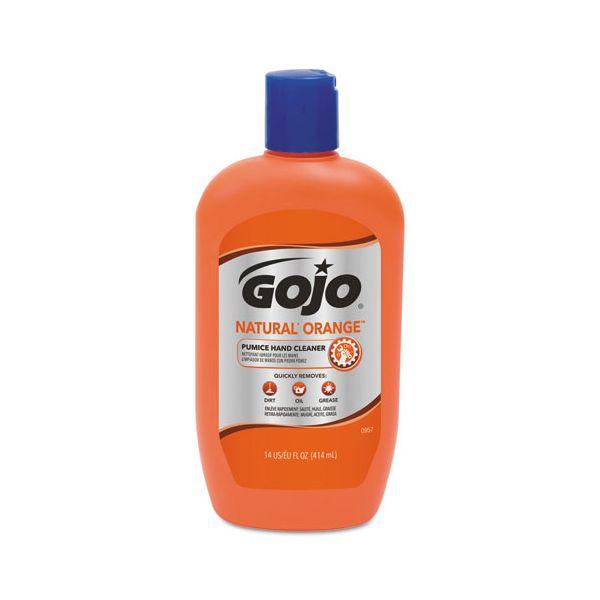 GOJO NATURAL ORANGE Pumice Hand Cleaner, 14 oz Bottle